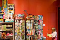 7 Novembre, 2008. Brooklyn, New York.<br /> <br /> Una bambina sceglie un libro al Lulu's Cuts &amp; Toys, una parruccheria per bambini e negozio di giocattoli a Park Slope, Brooklyn, NY. Park Slope, spesso definito dai newyorkesi come &quot;The Slope&quot;, &egrave; un quartiere nella zona ovest di Brooklyn, New York, e confinante con Prospect Park.  Park Slope &egrave; un quartiere benestante che ha il maggior numero di nascite, la qualit&agrave; della vita pi&ugrave; alta e principalmente abitato da una classe media di razza bianca. Per questi motivi molte giovani coppie e famiglie decidono di trasferirsi dalle altre municipalit&agrave; di New York a Park Slope. Dal punto di vista architettonico, il quartiere &egrave; caratterizzato dai brownstones, un tipo di costruzione molto frequente a New York, e da Prospect Park.<br /> <br /> &copy;2008 Gianni Cipriano for The New York Times<br /> cell. +1 646 465 2168 (USA)<br /> cell. +1 328 567 7923 (Italy)<br /> gianni@giannicipriano.com<br /> www.giannicipriano.com