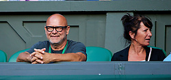 LONDON, ENGLAND - Tuesday, July 1, 2014: Barbora Zahlavova Strycova's father Jindrich and mother Ilona look on during the Ladies' Singles Quarter-Final match on day eight of the Wimbledon Lawn Tennis Championships at the All England Lawn Tennis and Croquet Club. (Pic by David Rawcliffe/Propaganda)