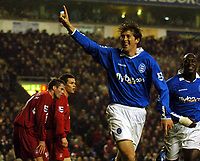 Fotball<br /> Premier League 2004/2005<br /> 06.11.2004<br /> Foto: BPI/Digitalsport<br /> NORWAY ONLY<br /> <br /> Liverpool v Birmingham City<br /> <br /> Delight for Darren Anderton and former Liverpool player Emile Heskey as Anderton celebrates his opening goal
