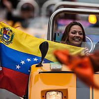 San Francisco Giants World Series Victory Parade 2012 - Venezuelan Flag