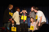 """The Hyde Park Community Players performed the comedy musical, """"The 25th Annual Putnam County Spelling Bee"""" this weekend at the University Church located at 57th and Greenwood.<br /> <br /> Leslie Halverson as Logainne Schwarzandgrubinierre <br /> <br /> Please 'Like' """"Spencer Bibbs Photography"""" on Facebook.<br /> <br /> All rights to this photo are owned by Spencer Bibbs of Spencer Bibbs Photography and may only be used in any way shape or form, whole or in part with written permission by the owner of the photo, Spencer Bibbs.<br /> <br /> For all of your photography needs, please contact Spencer Bibbs at 773-895-4744. I can also be reached in the following ways:<br /> <br /> Website – www.spbdigitalconcepts.photoshelter.com<br /> <br /> Text - Text """"Spencer Bibbs"""" to 72727<br /> <br /> Email – spencerbibbsphotography@yahoo.com"""