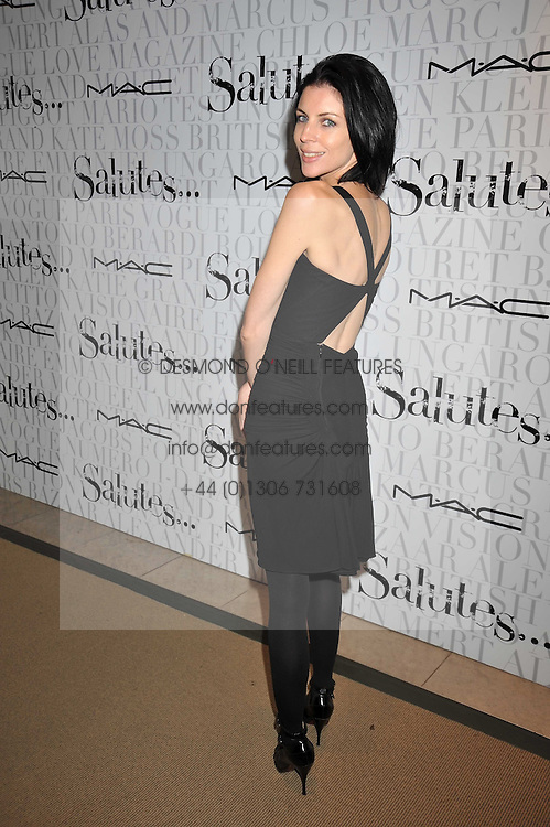 LIBERTY ROSS at the MAC Salutes party paying tribute to renowned makeup artists held at The Hosptal, Endell Street, London on 22nd February 2009.