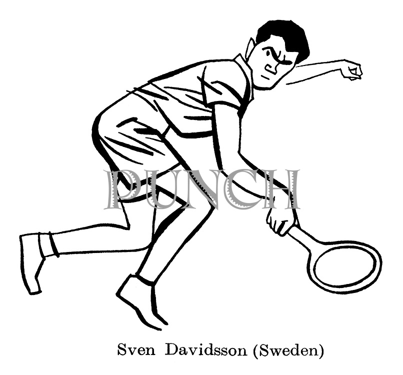 Sorry, No Croquet ; Wimbledon tennis<br /> Sven Davidsson ( Sweden )