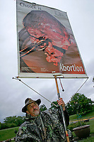 Anti-Abortion Protester at the 2006 University of Iowa Carver College of Medicine Commencement Ceremony, Iowa City, Iowa