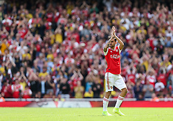 Dani Ceballos of Arsenal applauds the home crowd as he leaves the field of play - Mandatory by-line: Arron Gent/JMP - 17/08/2019 - FOOTBALL - Emirates Stadium - London, England - Arsenal v Burnley - Premier League