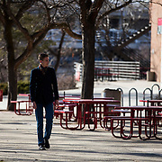 (Model released)-University of Utah Marketing lifestyle photos, on the campus of The University of Utah in Salt Lake City, Utah Friday Feb. 26, 2016. (August Miller)