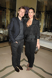 ANTHONY BAILEY and JESSICA DE ROTHSCHILD at the 10th Anniversary Party of the Lavender Trust, Breast Cancer charity held at Claridge's, Brook Street, London on 1st May 2008.<br />