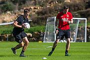 ESTEPONA - 08-01-2016, AZ in Spanje 8 januari, AZ speler Markus Henriksen, Niels Kok