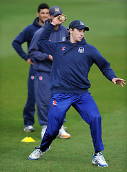 Gloucestershire's James Fuller - Photo mandatory by-line: Harry Trump/JMP - Mobile: 07966 386802 - 30/03/15 - SPORT - CRICKET - Pre Season Fixture - T20 - Somerset v Gloucestershire - The County Ground, Somerset, England.