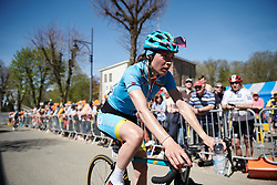 Sofia Bertizzolo (ITA) recovers after La Flèche Wallonne Femmes 2018, a 118.5 km road race starting and finishing in Huy on April 18, 2018. Photo by Sean Robinson/Velofocus.com
