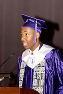 Eugene Whatley delivers closing remarks during the Thurgood Marshall High School commencement at the Dayton Masonic Center, Tuesday, May 24, 2011.