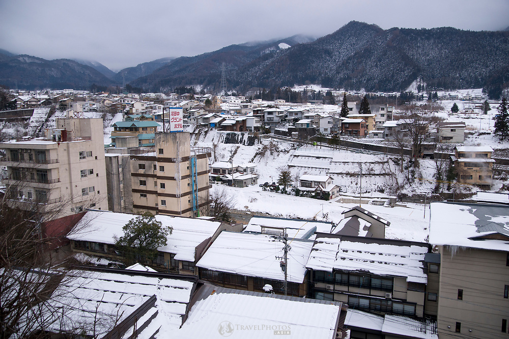 A view of Yukanaka township from a hotel window.