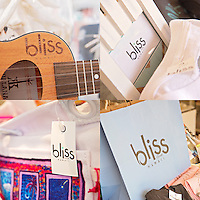 Logo use examples for Bliss Closet Hawaii, a boutique in Waikiki.