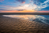 Sunrise tide pool at Cololla on the Outer Banks of NC.