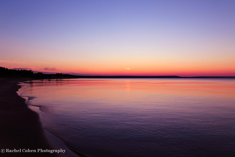 &quot;Long Past Sunset&quot;<br /> <br /> Lake Superior shoreline past sunset!!<br /> <br /> Sunset Images by Rachel Cohen