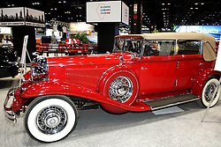08  February 2013: 1932 Chrysler Imperial. Chicago Auto Show, Chicago Automobile Trade Association (CATA), McCormick Place, Chicago Illinois