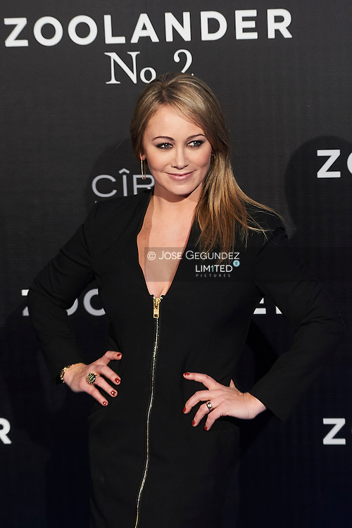 Christine Taylor attend 'Zoolander No. 2' film premiere at Capitol Cinema on February 1, 2016 in Madrid, Spain