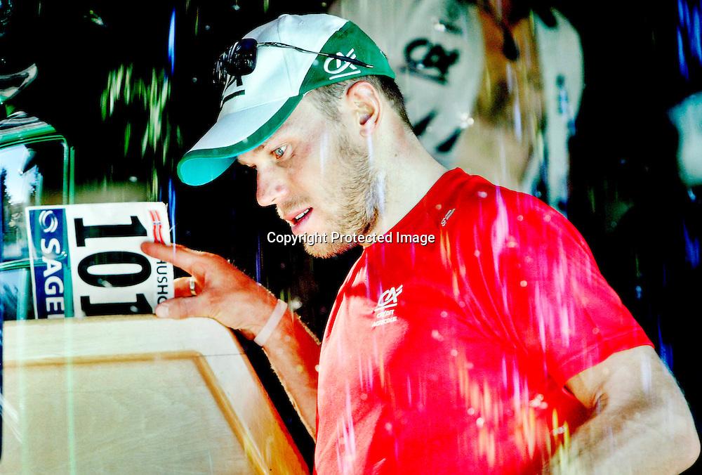 BOURG-EN-BRESSE, 20070713. Tour De France. Etappe 7. Thor Hushovd endte på en 5.plass...Foto: Daniel Sannum Lauten/Dagbladet *** Local Caption *** Hushovd,Thor