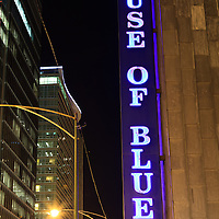 Chicago House of Blues sign at 329 N. Dearborn, Chicago, IL 60654