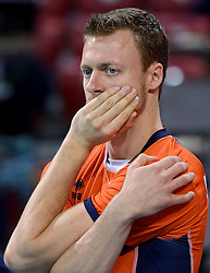 Jeroen Rauwerdink #10 during volleyball match between National teams of Netherlands and Slovenia in Playoff of 2015 CEV Volleyball European Championship - Men, on October 13, 2015 in Arena Armeec, Sofia, Bulgaria. Photo by Ronald Hoogendoorn / Sportida