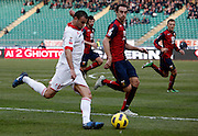 Bari (BA), 13-02-2011 ITALY - Italian Soccer Championship Day 25 - Bari VS Genoa..Pictured: Ghezzal (BA) Dainelli (GE).Photo by Giovanni Marino/OTNPhotos . Obligatory Credit