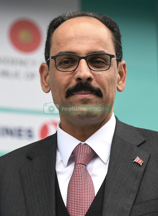 October 14, 2018 - Istanbul, Turkey - brahim Kalin, the special adviser to Turkish President and the presidential spokesperson of Turkish President during the Awards Ceremony, at the finish line of the sixth stage - the Salcano Stage 166.7km from Bursa to Istanbul, of the 54th Presidential Cycling Tour of Turkey 2018. .On Sunday, October 14, 2018, in Istanbul, Turkey. (Credit Image: © Artur Widak/NurPhoto via ZUMA Press)