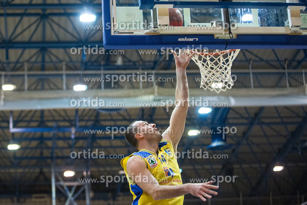 Erzen Jure of KK Sencur GGD during basketball match between KK Sencur  GGD and KK Tajfun Sentjur for Spar cup 2016, on 16th of February , 2016 in Sencur, Sencur Sports hall, Slovenia. Photo by Grega Valancic / Sportida.com