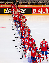 04.05.2013, Globe Arena, Stockholm, SWE, IIHF, Eishockey WM, Slowenien vs Norwegen, im Bild Norway // during the IIHF Icehockey World Championship Game between Slovenia and Norway at the Ericsson Globe, Stockholm, Sweden on 2013/05/04. EXPA Pictures © 2013, PhotoCredit: EXPA/ PicAgency Skycam/ Johan Andersson *****ATTENTION - OUT OF SWE *****