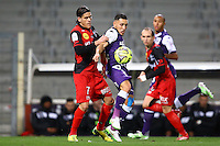 Adrien Regattin / Dorian Leveque - 20.12.2014 - Toulouse / Guingamp - 19eme journee de Ligue 1 <br />