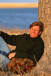 blond man near Lake Isabella at The Ruby Ranch, NM