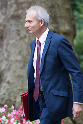 Downing Street, London, September 9th 2016.  Leader of the House of Commons David Lidington arrives at Downing street for the weekly cabinet meeting following the Parliamentary summer recess.