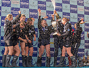 London, Great Britain, The Newton Women's Boat Race, Men's Race , Championship Course.  River Thames. Putney to Mortlake. ENGLAND. <br /> <br /> 17:26:12  Saturday  11/04/2015<br /> <br /> [Mandatory Credit; Peter Spurrier/Intersport-images]<br /> <br /> OUWBC Crew: <br /> Maxie SCHESKE, Anastasia CHITTY, Shelley PEARSON, Lauren KEDAR, Maddy BADCOTT, Emily REYNOLDS, Nadine GRAEDEL IBERG, Caryn DAVIES and Cox Jennifer EHR