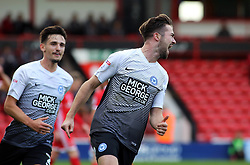 Gwion Edwards of Peterborough United celebrates scoring his goal - Mandatory by-line: Joe Dent/JMP - 16/09/2017 - FOOTBALL - Banks's Stadium - Walsall, England - Walsall v Peterborough United - Sky Bet League One