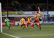 16th December 2017, Dens Park, Dundee, Scotland; Scottish Premier League football, Dundee versus Partick Thistle; Dundee's Mark O'Hara scores for 2-0
