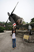 Army Museum. American war planes captured during Vietnam war.