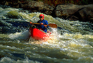 Canoeing in Rapids, Blue Ledge Area, Adirondack Park, New York