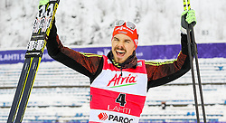 21.02.2016, Salpausselkae Stadion, Lahti, FIN, FIS Weltcup Nordische Kombination, Lahti, Siegerehrung, im Bild Sieger Fabian Riessle (GER) // Winner Fabian Riessle of Germany during Winner Award Ceremony of FIS Nordic Combined World Cup, Lahti Ski Games at the Salpausselkae Stadium in Lahti, Finland on 2016/02/21. EXPA Pictures © 2016, PhotoCredit: EXPA/ JFK