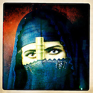 Image of a traditional Arab headscarf. 2012