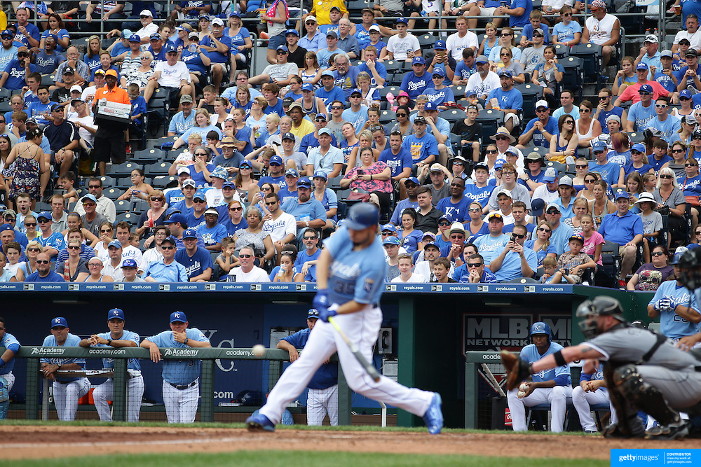 Kansas City Royals Vs Chicago White Sox,  Kauffman Stadium, Kansas, Missouri, USA. 9th August 2015. Photo Tim Clayton