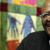 Arch Bishop Desmond Tutu<br /> Cape Town, South Africa 6-20-13<br /> Photo by Shmuel Thaler
