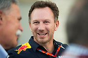 October 19-22, 2017: United States Grand Prix. Christian Horner, team principal of Red Bull Racing, Chase Carey, Chairman of the Formula One Group.