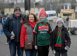 Padraig, Therese and Olywn Hasting with Alex Bennett pictured at the Mayo v Dublin league match at McHale park.<br /> Pic Conor McKeown