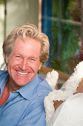 Portrait of a blond man smiling