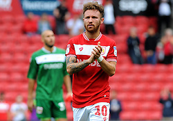 Matty Taylor of Bristol City thanks fans at the full time whistle - Mandatory by-line: Nizaam Jones/JMP- 18/08/2018 - FOOTBALL - Ashton Gate Stadium - Bristol, England - Bristol City v Middlesbrough - Sky Bet Championship