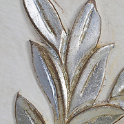 Hand carved leaves with silver leaf