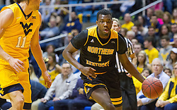 Dec 23, 2016; Morgantown, WV, USA; Northern Kentucky Norse forward Jordan Garnett (1) drives towards the basket during the first half against the West Virginia Mountaineers at WVU Coliseum. Mandatory Credit: Ben Queen-USA TODAY Sports