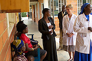 Professor Alison Fiander, Chair of RCOG Global Health Policy Advisory Committee, at Kitovu Hospital in Uganda.