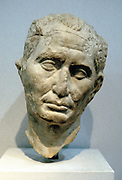 Julius Caesar (c100-44 BC) Roman soldier and statesman. Portrait bust