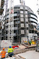 Edinburgh, Scotland, UK. 22 June, 2020. Construction work going on at new W Edinburgh Hotel at new St James Centre development. Iain Masterton/Alamy Live News