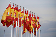 Spanish Flag before the Spanish Royals depart from Adolfo Suarez Madrid-Barajas Airport to Cuba for Two Days State Visit  on November 11, 2019 in Madrid, Spain